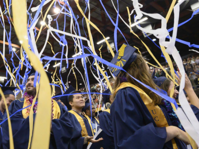 uc davis students at commencement